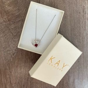 Kay's Lab-Made Ruby & Sterling Silver Necklace